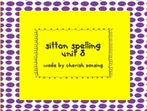 Sitton Spelling Unit 8 Printable