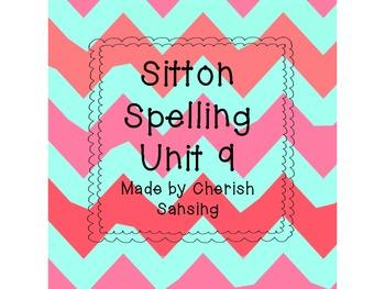 Sitton Spelling Unit 9 Printable
