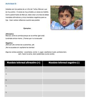 Situaciones delicadas: Los mandatos informales. Lesson plan & activities bundle