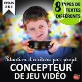 Écriture créative / Projet / French Creative writing Proje
