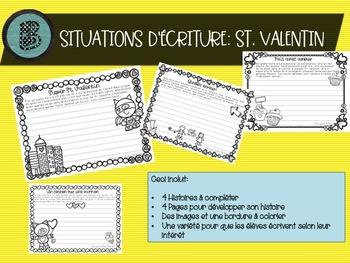 Situations d'écriture pour le St. Valentin