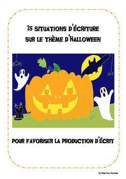 Situations d'écriture Production d'écrit Halloween