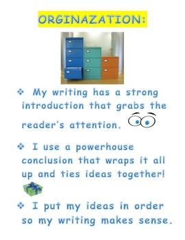 Six + 1 Writing Traits 8 x 11 posters