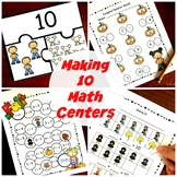 "Six ""How to Make 10"" Fall Math Centers"