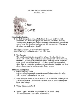 Six Activities for Our Town