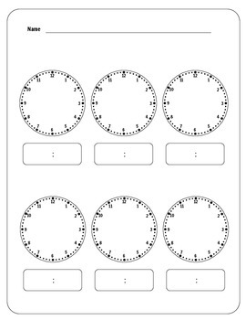 Six Blank Analog Clocks