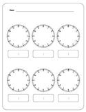Six Blank Analog Clocks