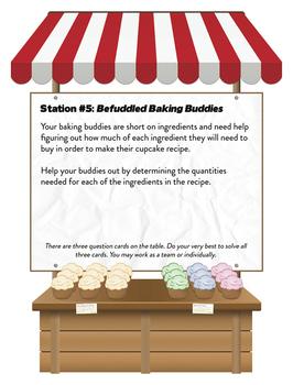 Six Center Math Fraction Bakery - Common Core 3-7