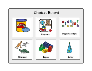 Six Choice Board with Visuals