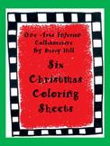 Six Christmas Coloring Sheets