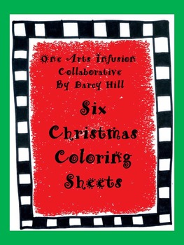 Six Christmas Coloring Sheets