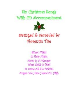 Six Christmas Songs Karaoke Accompaniment Silent Night O Holy Night more...