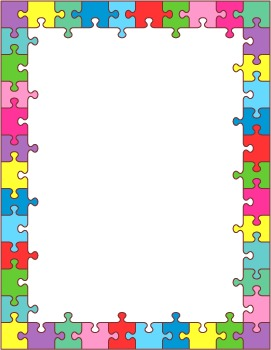 Six Colorful Puzzle Frames, Commercial Use Allowed