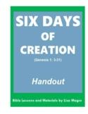 """Six Days of Creation"" Worksheet & BONUS: Genesis Word Sea"