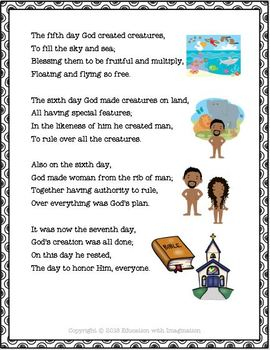 Six Days of Creation Rhyme Bundle