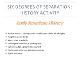 Six Degrees of Separation: Early American History Activity