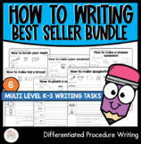 Six Differentiated Procedural Writing Activities - Procedure Writing Bundle