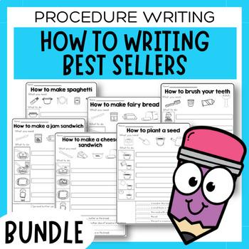 Six Differentiated Procedural Writing Activities - Procedure Writing Bundle