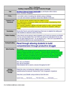 Six Dots by Jen Bryant Lesson Plan & Activities