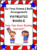 Six Easy Tone Chimes & Bells arrangements PATRIOTIC BUNDLE