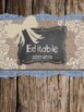 Six Editable Shabby Chic Rustic Binder Covers with Matching Spines