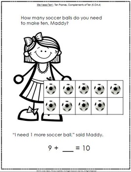 Six Emergent Math Guided Reading Books: Maddy and Matt