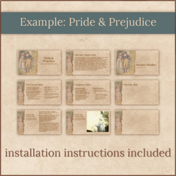 6 Jane Austen PowerPoint Templates