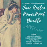 6 JANE AUSTEN Themes for PowerPoint - BUNDLE