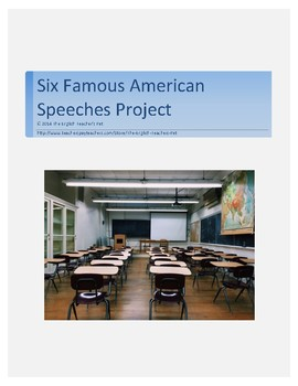 Six Famous American Speeches Project