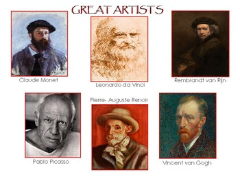 Six Famous Artists Combination Bundle