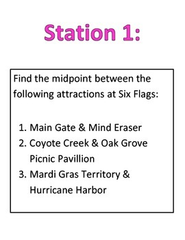 Six Flags Midpoint and Distance
