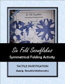 Six Fold Snowflakes Symmetrical Folding Activity