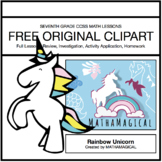 Rainbow Unicorn Clip Art