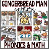 Six Gingerbread Man Centers for Phonics & Math