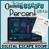 Sixth Grade Percent Escape Room Activity for Ratios & Prop