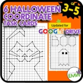 Halloween Math Activity Coordinate Drawing Task Cards