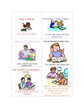 Six Homework Passes