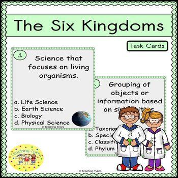Six Kingdoms Task Cards