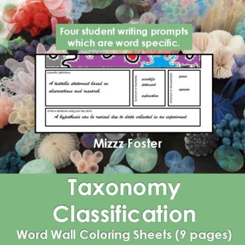 Six Kingdoms Word Wall Coloring Sheets (6 pages)