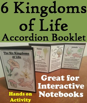The Six Kingdoms of Life Interactive Notebook Foldable (Fun Hands on Activity)