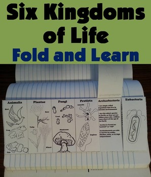 Six Kingdoms of Life Interactive Notebook/ Coloring Foldable