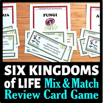 kingdoms of life mix and match game 54 cards with editable template