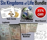 Six Kingdoms of Life Task Cards and Activities Bundle
