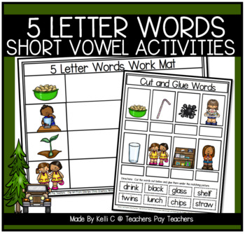 6 Letter Word Flashcards and Word Mats