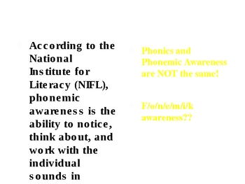 Six Literacy Components Professional Development