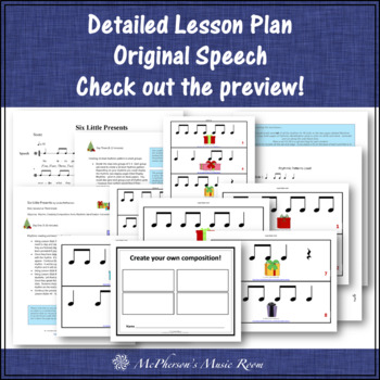 Christmas Music Lesson ~ Six Little Presents: Orff, Rhythm, Form & Instruments