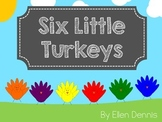 Six Little Turkeys Song Folder