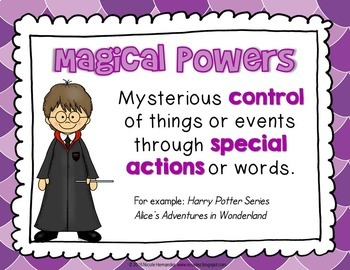 Fantasy Story Elements Posters for Elementary Classrooms