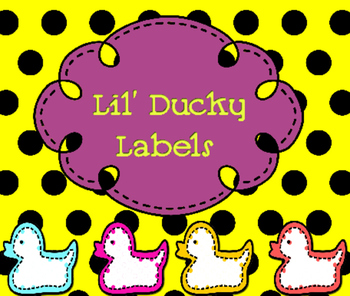 Six Multipurpose Lil' Ducky Labels