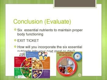 Six Necessary Nutrients